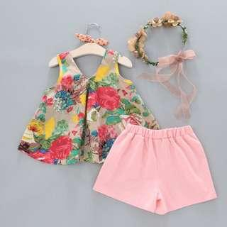 Girls Floral Sets