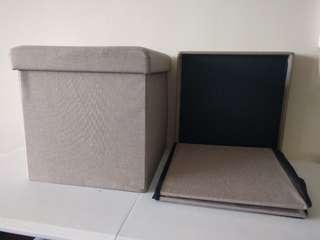 collapsible ottoman