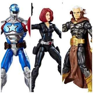 Civil Warrior vs The Collector vs Black Widow - Hasbro Marvel Legends GamerVerse Gamer Verse Contest of Champions action figures