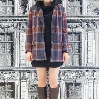 Initial 英式復古羊毛外套- 原價近3千 Vintage style