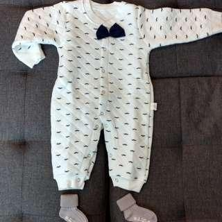* CNY Special* Baby Romper - Long Sleeve with Bowtie