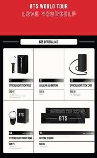 [PO] BTS Love Yourself Singapore Concert Official Merchandise (MD)