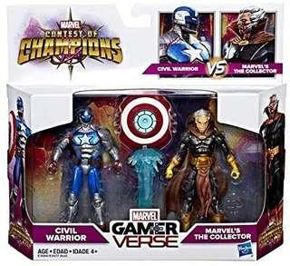 Civil Warrior vs The Collector - Hasbro Marvel Legends GamerVerse Gamer Verse Contest of Champions action figures