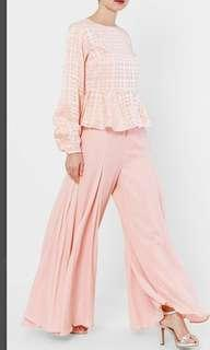 #CNY888 Aere - Zelda Flare Pants in Peach