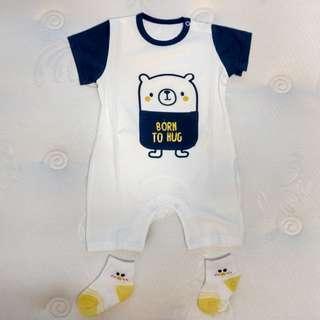 *CNY Special* Baby Romper - Pocket Bear