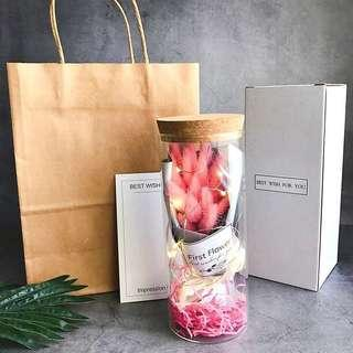 💐Premium Korea LED Preserved Flowers Jar/ Box | Last minute idea gift 💝| surprise box | Ready stocks !☺️