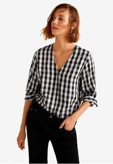 Mango chekered blouse