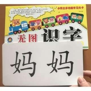 Chinese Flashcard | 儿童识字卡片* Simplified Chinese|HYPY**age 3-6岁