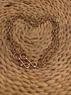 Brand new stunning golden brass sling bag chain