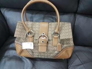 (BN) Coach Brown Leather Handbag