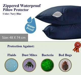 🚚 Waterproof Zippered Pillow Protector Encasement Bed Bug