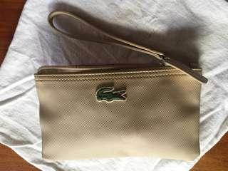 Authentic Lacoste khaki wallet pouch