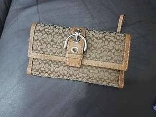 (BN) Coach Brown Leather Wallet