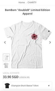 bambam doubleB limited edition white tee