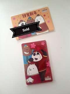 We Bare Bear Ezlink Cards (CNY edition)