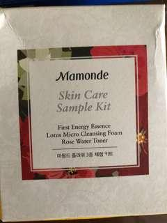 Mamonde skincare sample kit