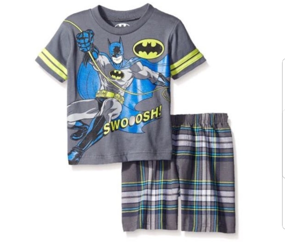 f7d644510ff5 3T* BN Batman plaid shorts set for little boy, Babies & Kids, Boys ...