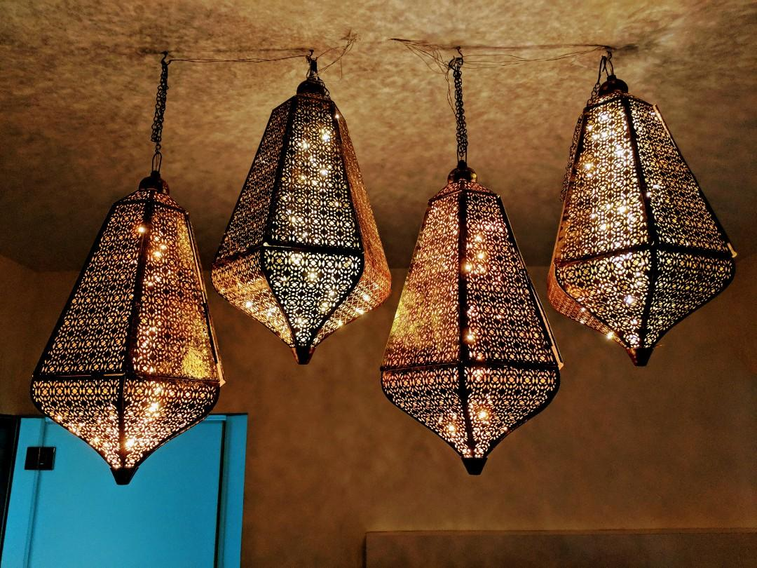 4 One Of A Kind Mughal Filigree Lamps
