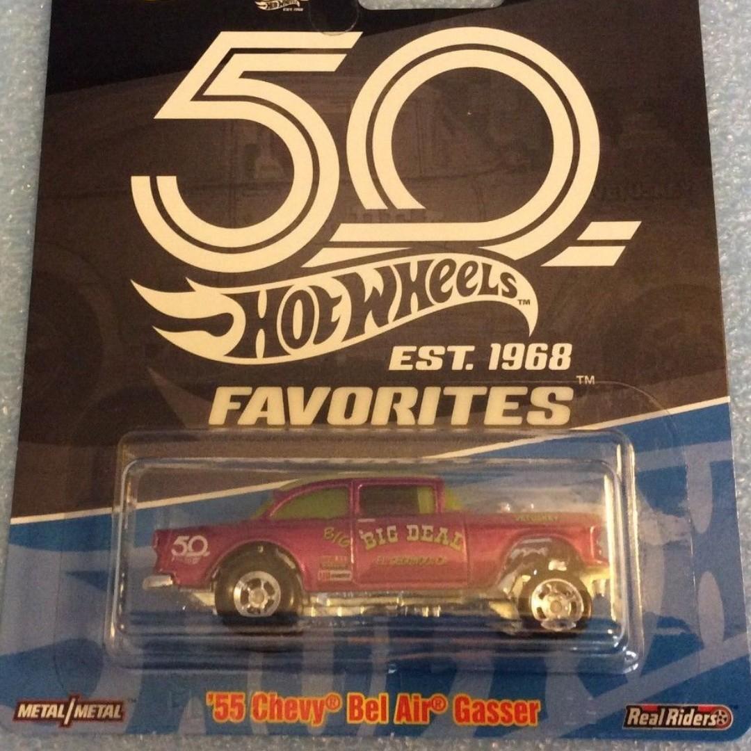 Hot Wheels 50th Anniversary Favorites Real Riders 69 Camaro 1:64 Hot Wheels