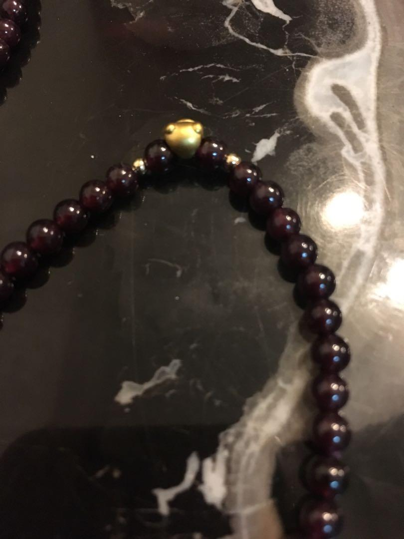 999 gold garnet bracelet 足金石榴石手鏈