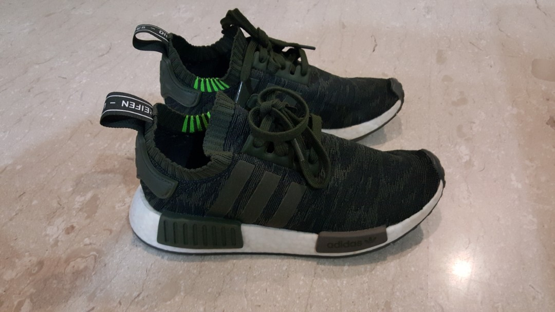 0bb67a321 Adidas NMD R1 Primeknit Olive Green - pre-owned