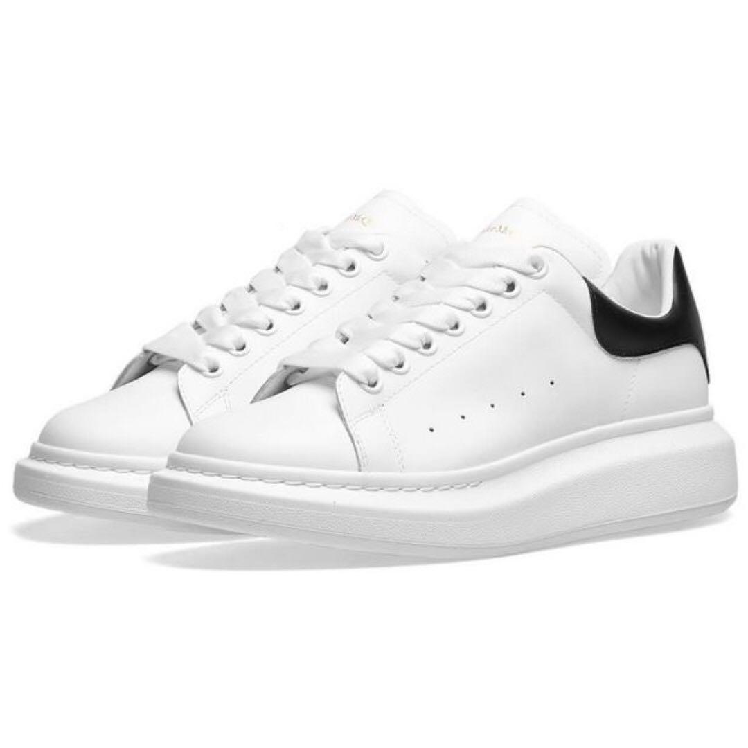 6c9614e51 Alexander McQueen Heel Tab Wedge Sole Sneaker (White)