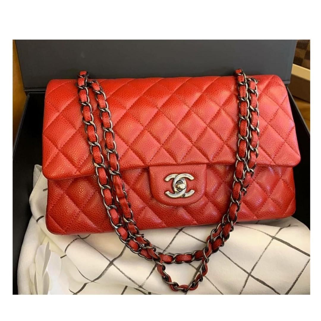 c02cfdf4055307 Authentic Chanel Classic Medium Flap Bag on Carousell