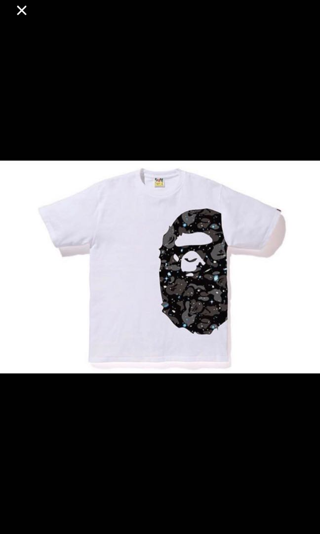 ad0d4eb31 Bape space camo side big ape head tee, Men's Fashion, Clothes, Tops ...