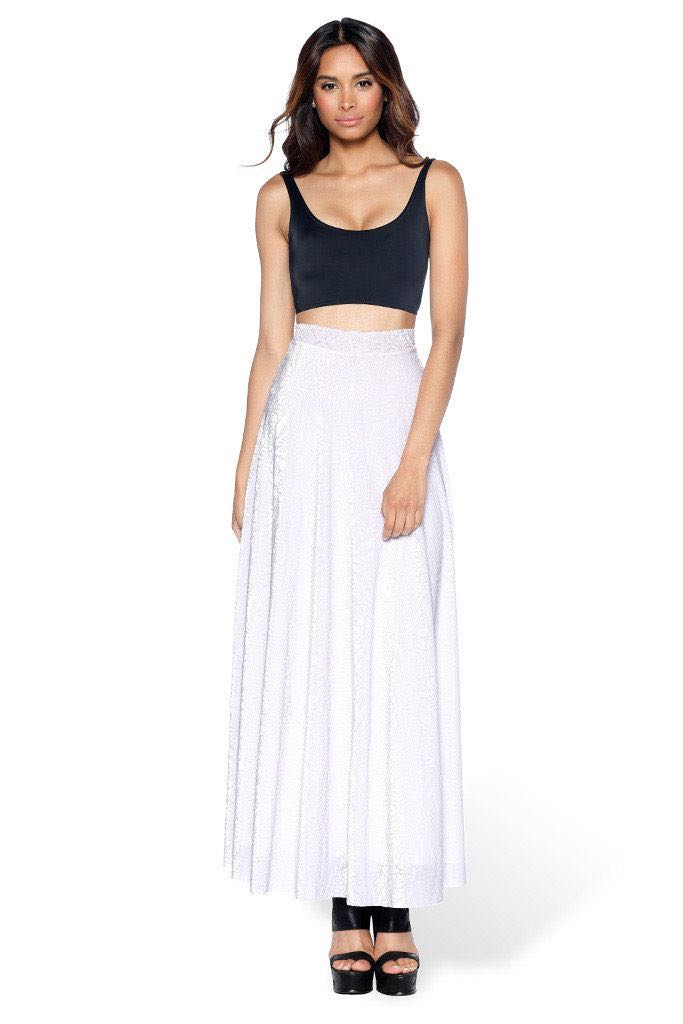 6ddf14633c3f Blackmilk Burned Velvet Skirt in White, Women's Fashion, Clothes ...