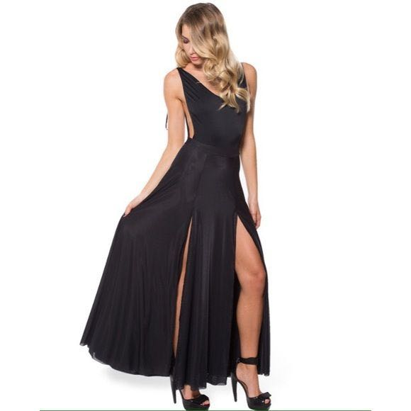 8a0de77209f276 Blackmilk Sheer Split Maxi Skirt, Women's Fashion, Clothes, Dresses ...