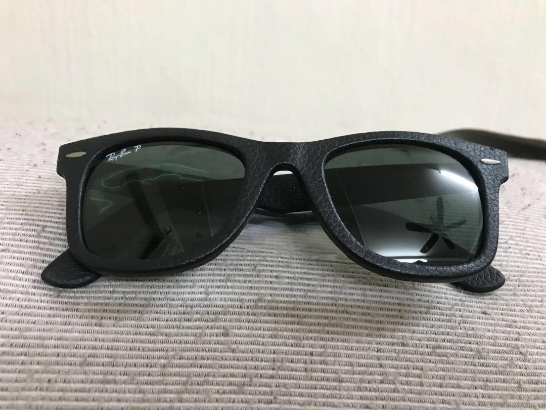 2c0db88454aeb BN authentic Rayban wayfarer leather sunglasses
