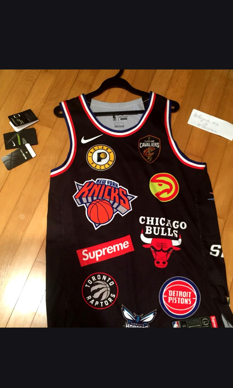 cheap for discount cbfc3 d5490 BNDS Supreme x Nike NBA Jersey, Sports, Sports Apparel on ...
