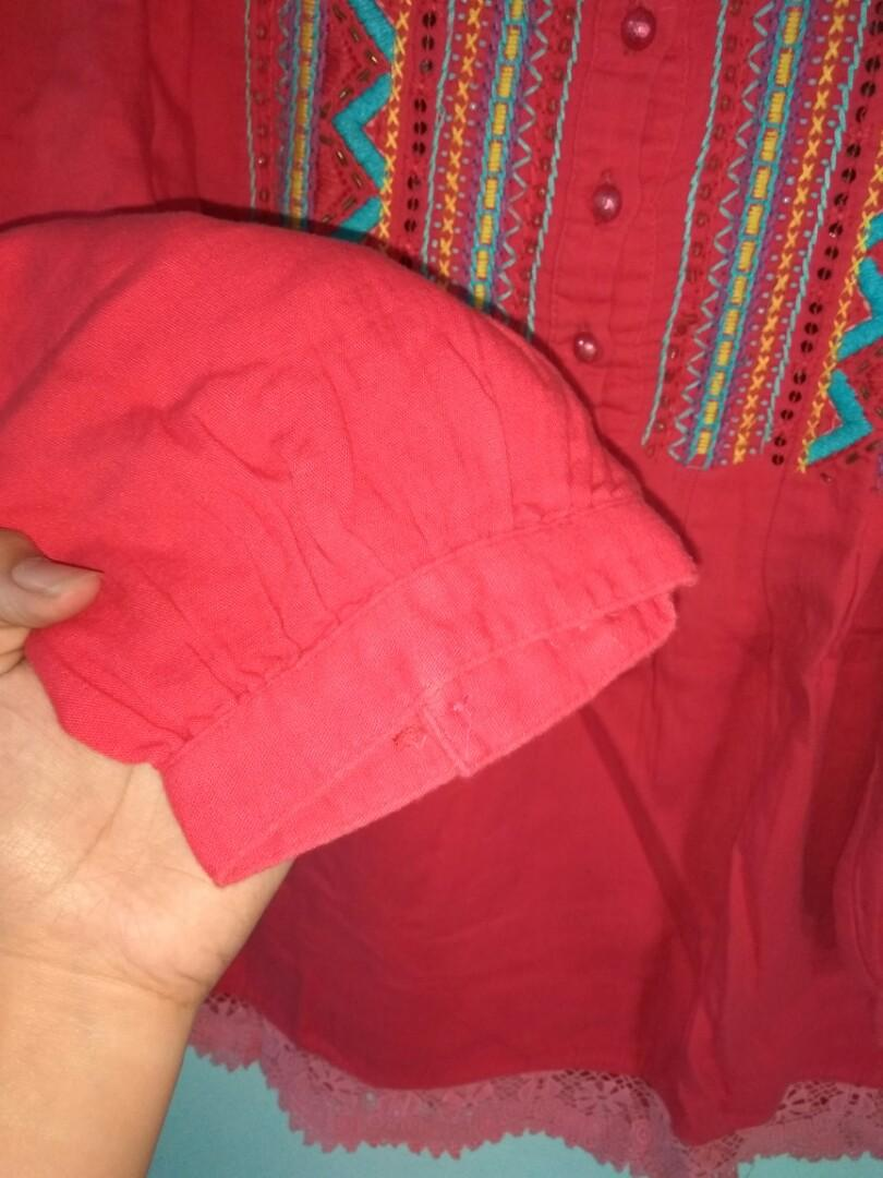 BOUTIQUE RED BLOUSE