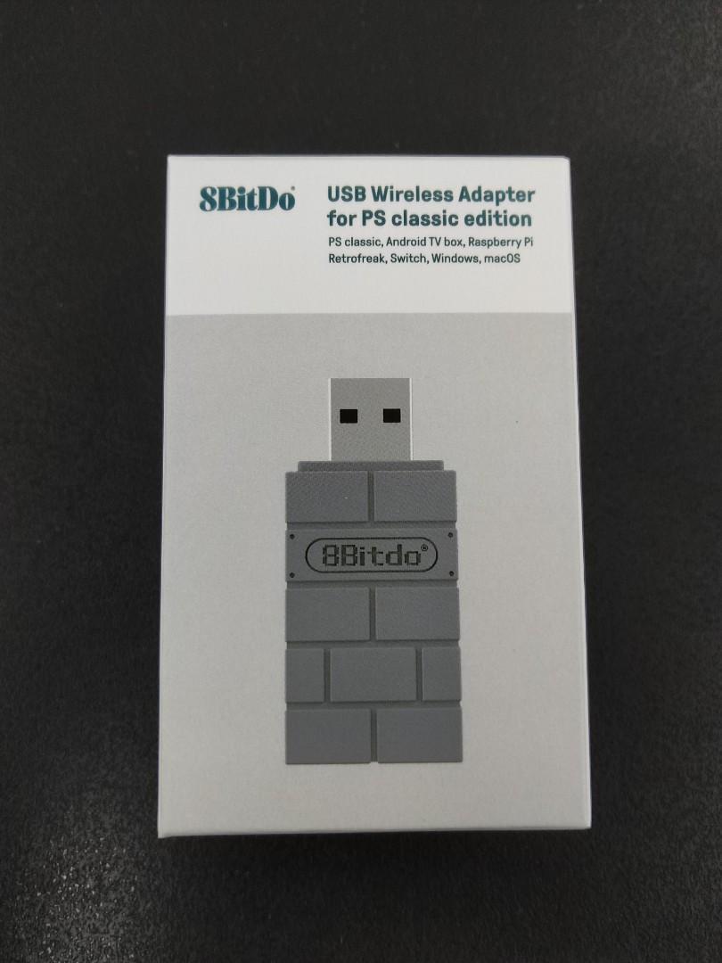 (Brand New) 8Bitdo USB Wireless Adapter for PS Classic Edition / Android TV  Box / Raspberry Pi / Retrofreak / Switch / Windows / MacOS