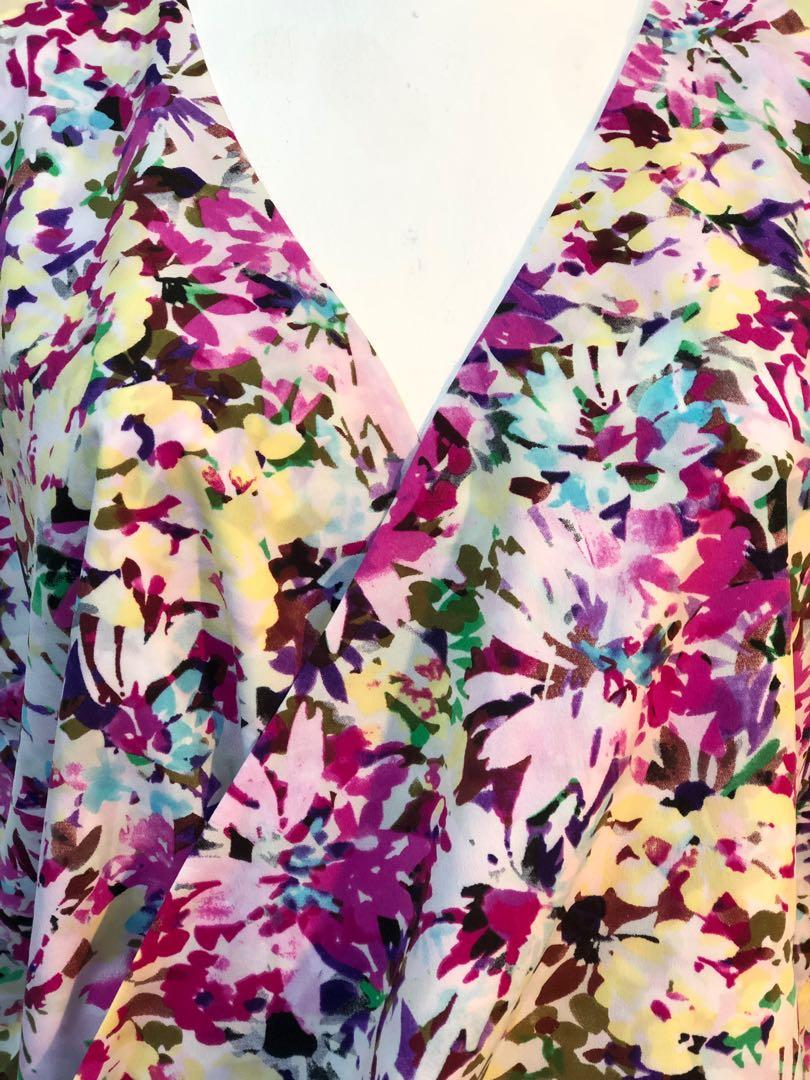 CABI Floral blouse Top NEW without tags (retail $120)