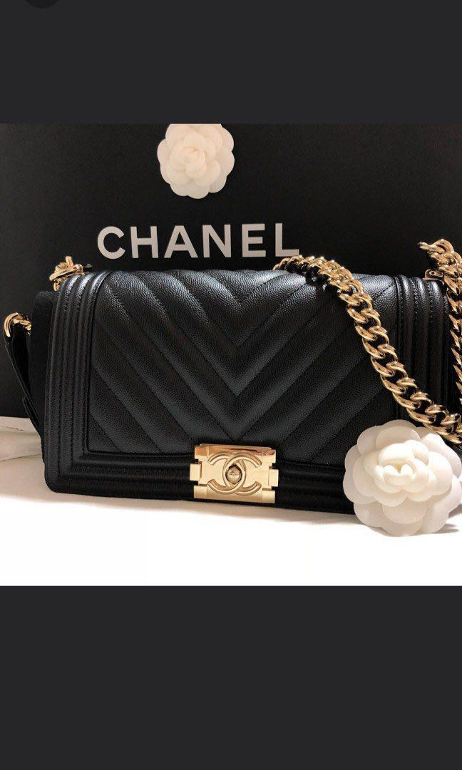 21175c44fa86 Chanel Chevron Le Boy - Old Medium