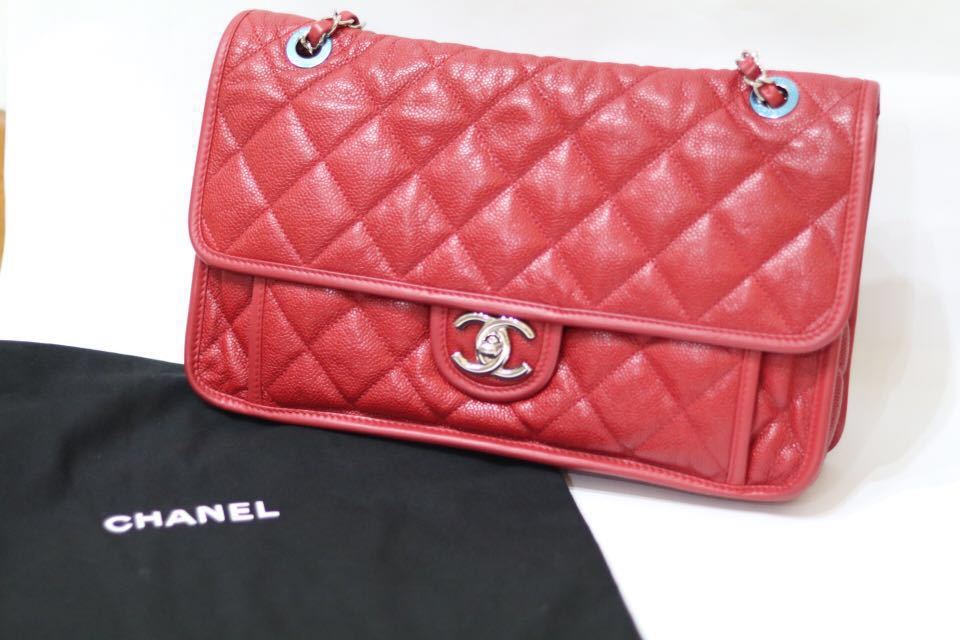 c9c99af2ec3 Chanel French Riviera Soft Caviar Quilted Flap Bag, Luxury, Bags & Wallets,  Handbags on Carousell