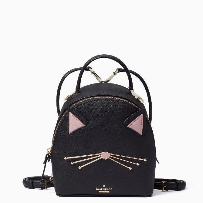 COLLECTIBLE SALE Kate Spade Cat s Meow Binx Mini Backpack Slingbag ... 4872e758f75c7
