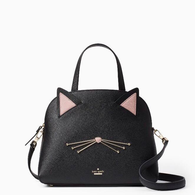 4787a69ce5ac COLLECTIBLE SALE Kate Spade Cat's Meow Lottie Dome Handbag Satchel ...