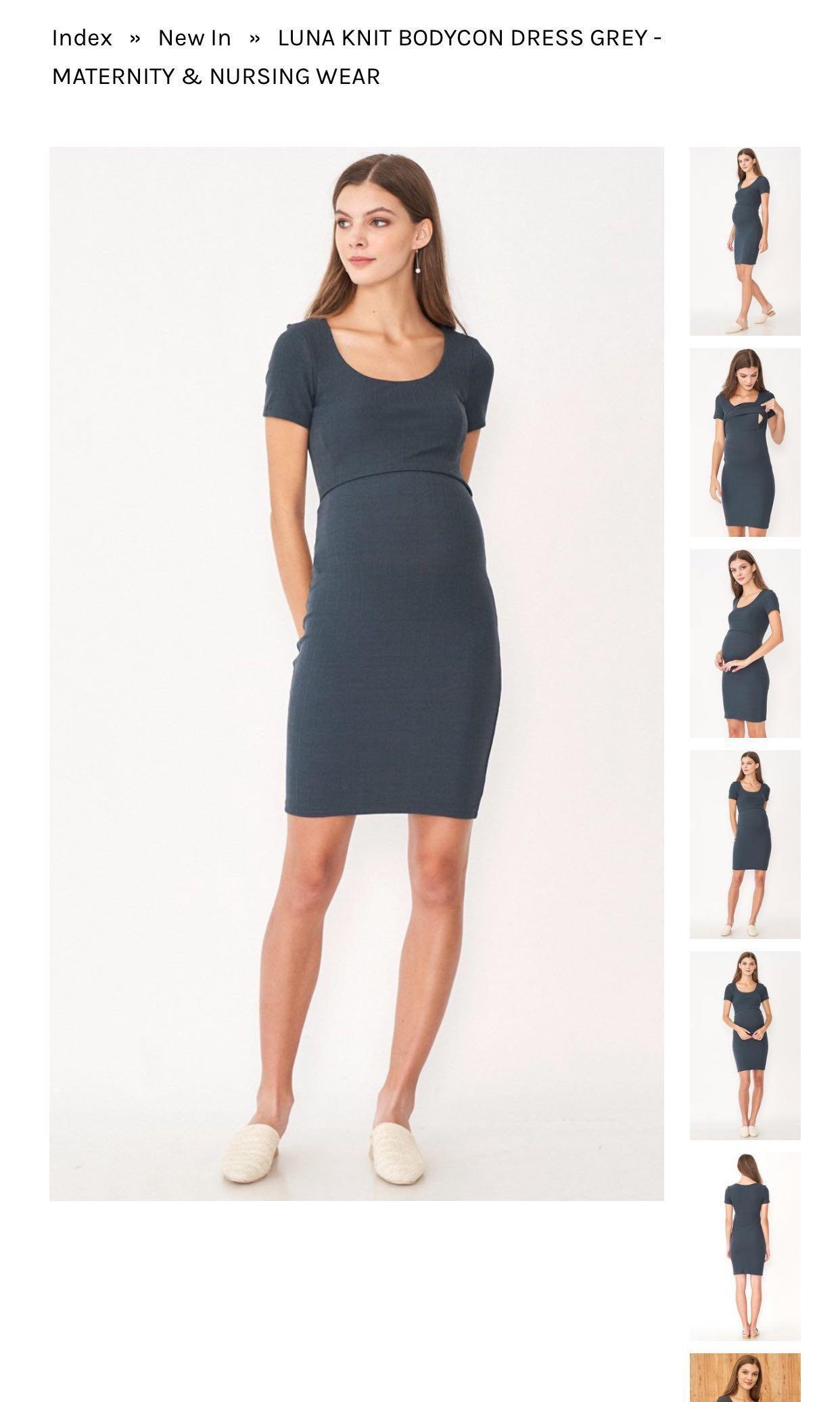 d418bc5bf Dear Collective Luna Knit Bodycon Nursing Dress