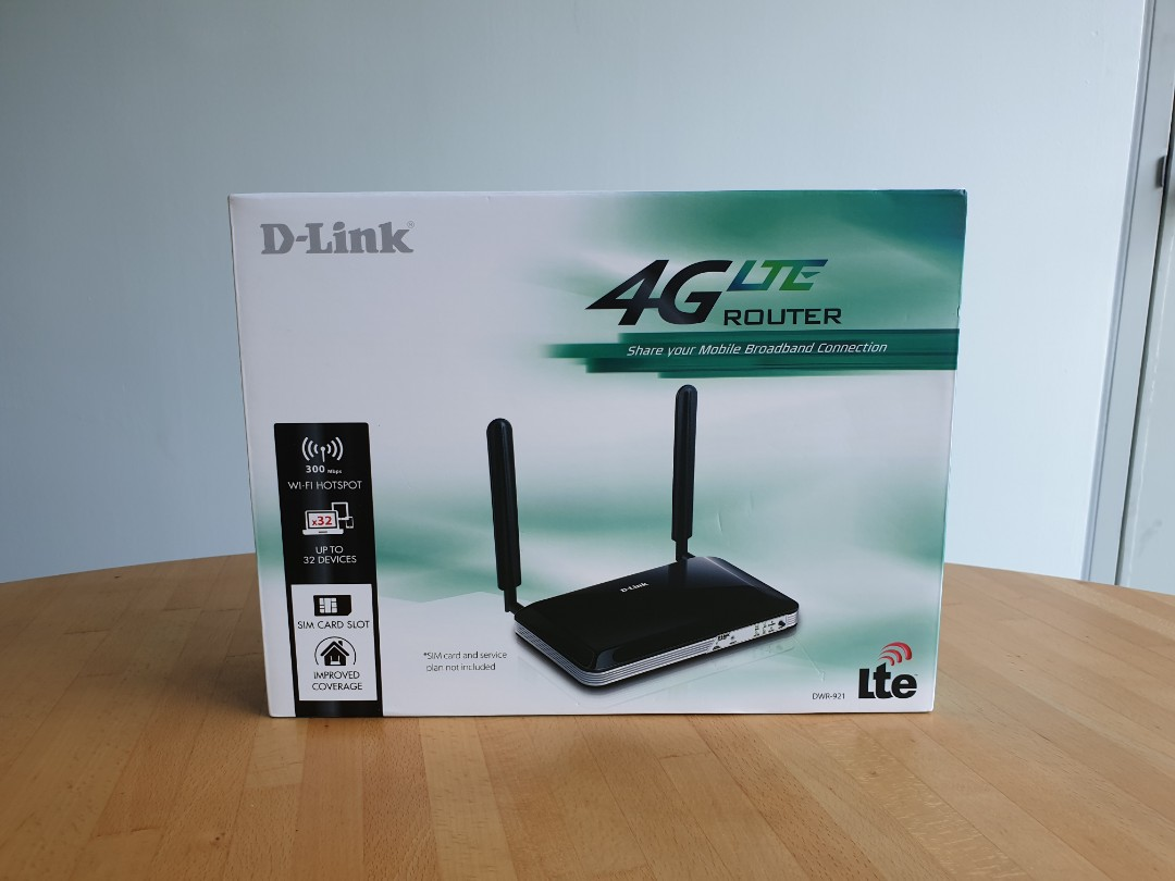 D-Link 4G wifi router DWR921 (with sim card tray)