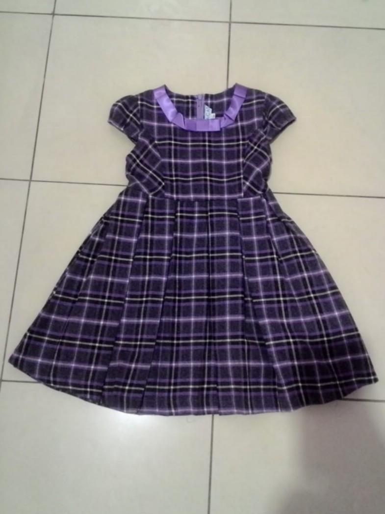 Dress Ungu Kotak MACAT