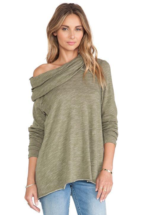 Free People Beach cocoon cowl neck sweater: size S