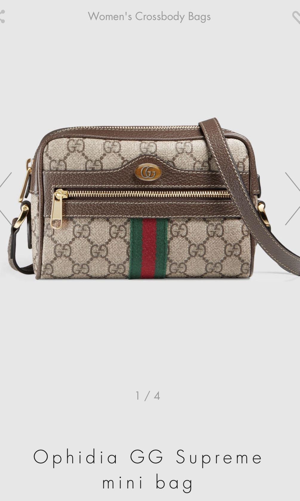 bc275685b0e Gucci Ophidia Supreme GG mini crossbody Bag