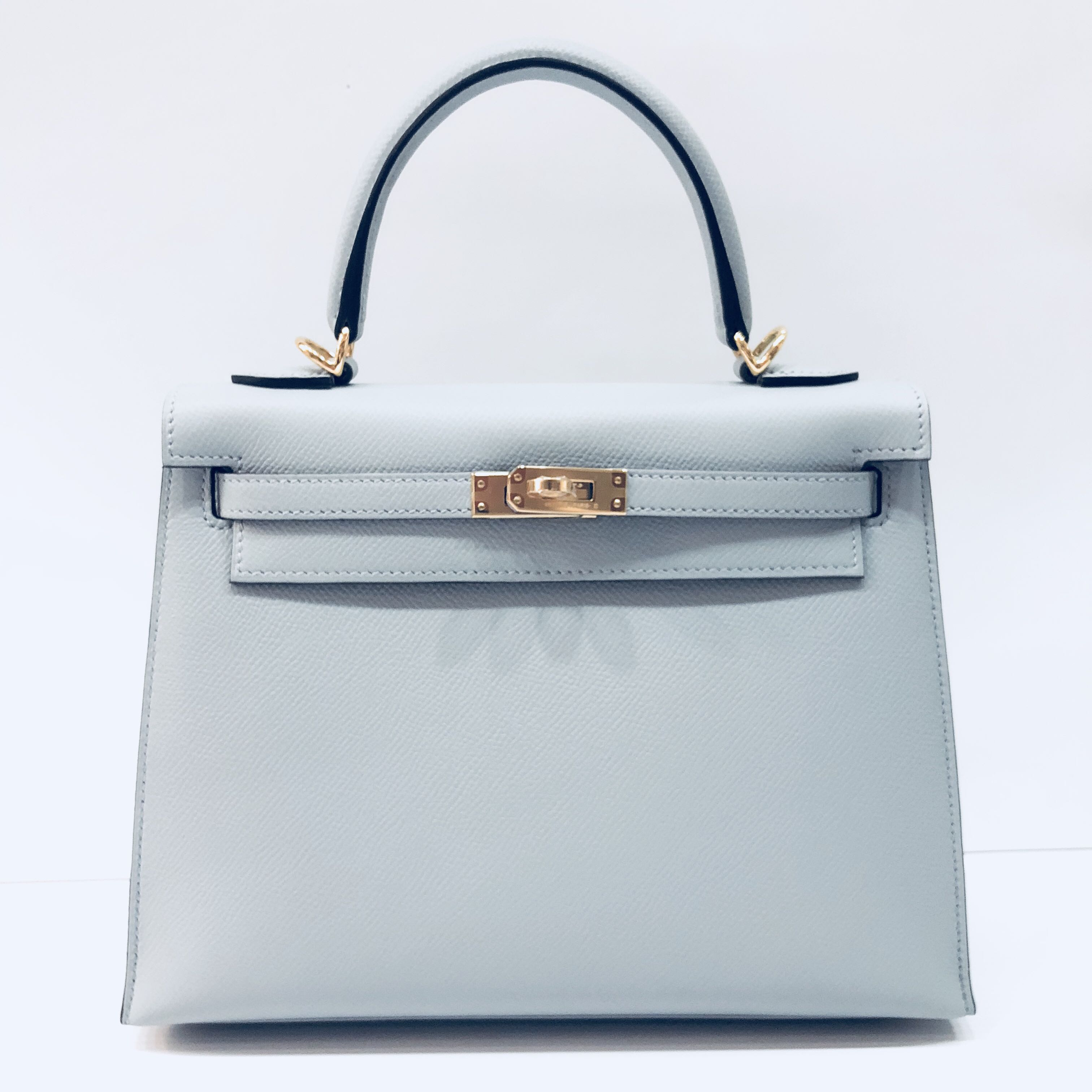 1d44d6576eac Hermes - Blue Glacier Kelly 25 Sellier in Veau Epsom with GHW ...