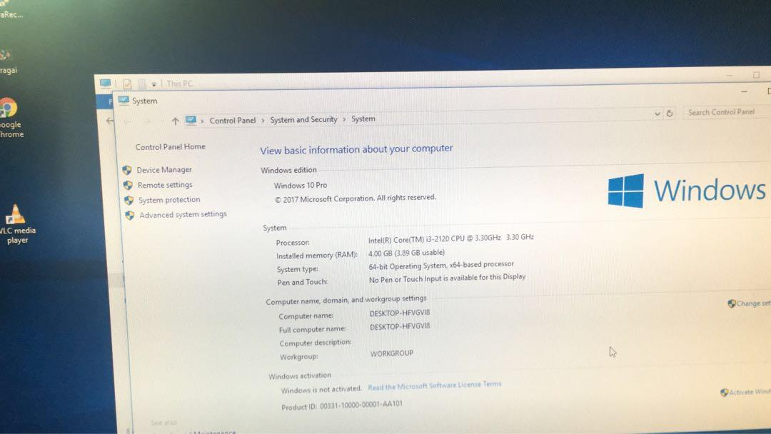 HP pro 3500 Series Core i3-2120 Cpu 4GB RAM 500GB HDD