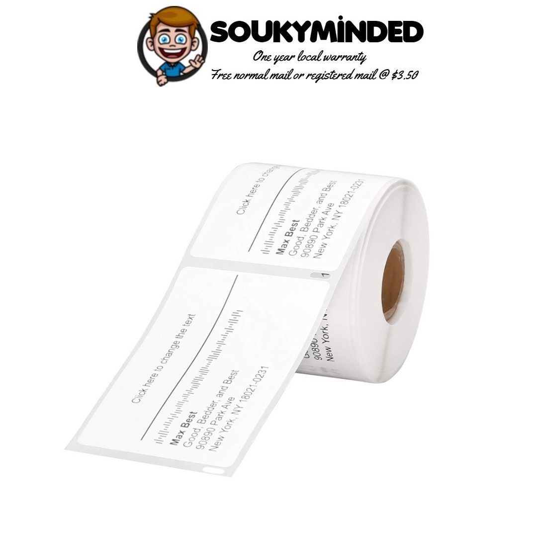 [IN-STOCK] 30256 1 Roll Dymo Compatible Standard Large Shipping Labels 59  mm x 102 mm, 300/Roll for LabelWriter 330 400 450 Duo Twin Turbo 4XL Printer