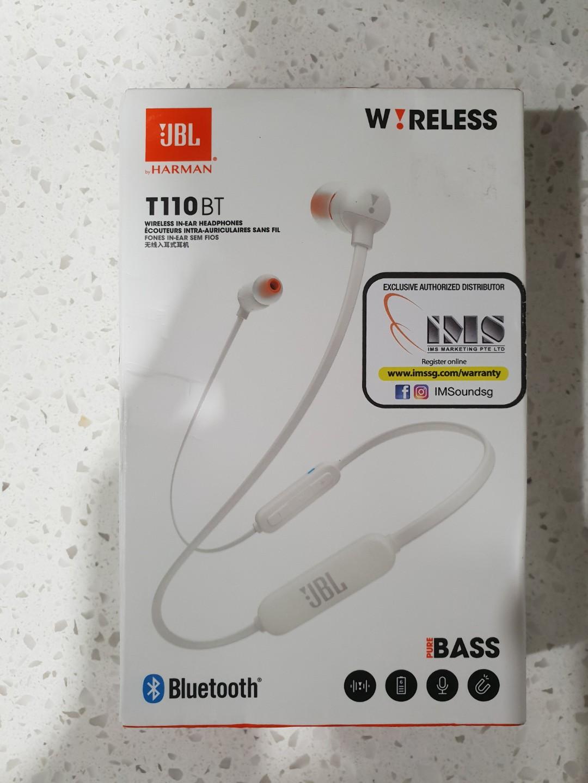 JBL T110BT Wireless In-Ear Headphones, Electronics, Audio on