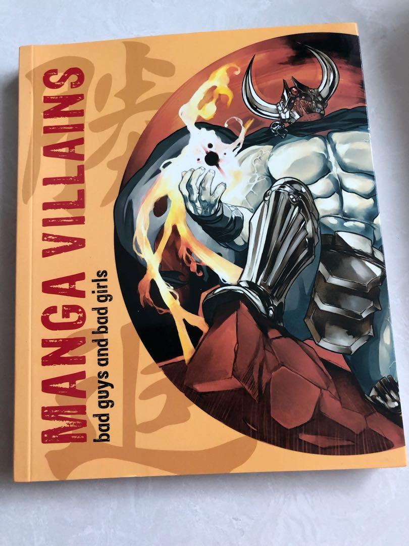 Manga Villains Artbook Tutorial Books Stationery Comics Manga