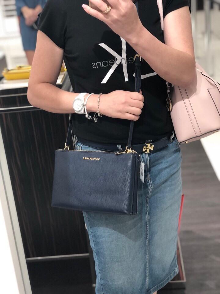88028b583 Michael Kors Jet Set Travel Double Zip Crossbody, Luxury, Bags & Wallets,  Handbags on Carousell